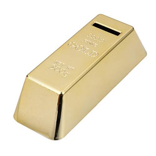 SEHNL ABS Plastik Piggy Bank Goldbarren Brick Münzbox Fall Geld sparen Box for Kinder Kinder Geburtstags-Geschenke Wohnkultur
