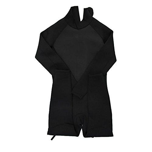 Gazechimp 3mm Combinaison de Plongée Homme Complet Avec Fermeture à Glissière Costume Isothermique - Noir, L