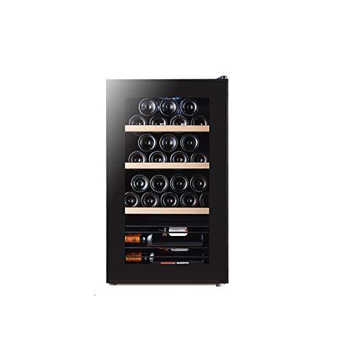 MSG ZY 32 wijnkoeler, LED-touchscreen-wijnkelder, vrijstaande wijnkoelkast, sigarenkast, vochtinbrengend met constante temperatuur van 360 ° - mute-wijnkoeler