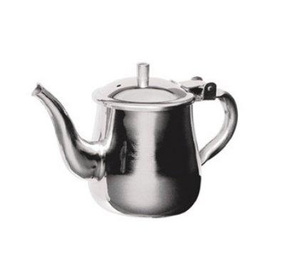 Stainless Steel Gooseneck Tea Pot w/Vented Hinged Lid (10oz)