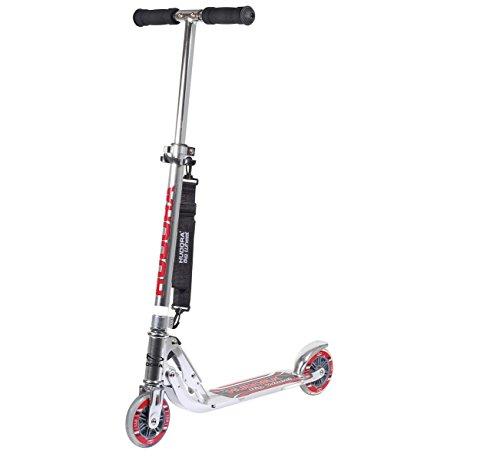 HUDORA Big Wheel Scooter 125 mm, Kinder Scooter - Kinder Roller , silber, 14200