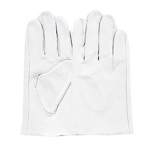 おたふく手袋 革手袋 トンクレ カフスナシ 白 M R-30W