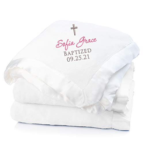 Lifetime Creations Personalized Baptism Blanket -...