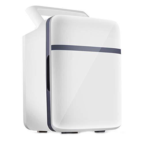 BLLXMX Mini refrigerador, Mini refrigerador portátil de bajo Consumo de energía Blanco de 10L con función de enfriamiento y Calentamiento, AC/DC 12V para la Oficina de la Caravana del Dormitorio