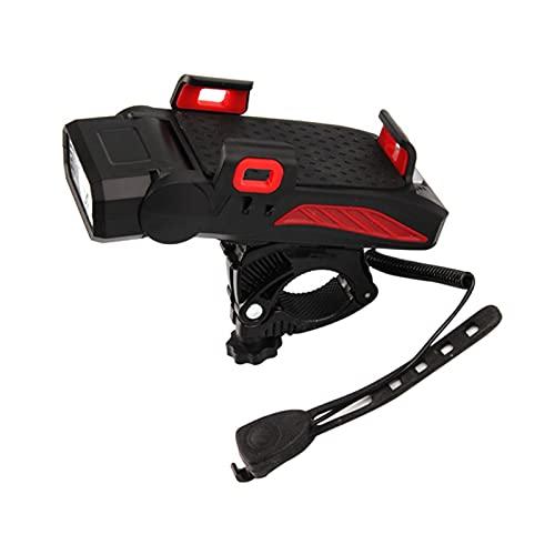 Su-xuri - Lámpara de bicicleta 4 en 1 para bicicleta, USB recargable, con 120 claxon decibel 5 modos de luminosidad para ciclismo, montaña, carretera