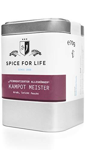 Spice for Life Kampot Meister - Fermentierter Pfeffer - Pfeffermischung Fermentiert - Pfeffer Mischung Edel Schwarz Ganz - Deluxe Pfefferkörner Grob für Steak - Intensiv Aromatisch mit Feiner Schärfe