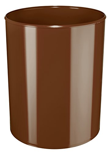 HAN 1814-F-08, corbeille à papier anti-feu ignifuge, difficilement inflammable, sûre, élégante, qualité premium, 13 litres, brun