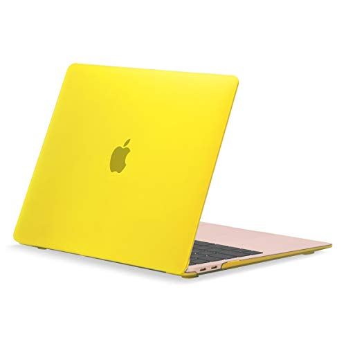 TOP CASE MacBook Air 13 Inch Case 2020 2019 2018 Release A1932/A2179, Classic Series Rubberized Hard Case Compatible MacBook Air 13' with Retina Display fits Touch ID - Yellow