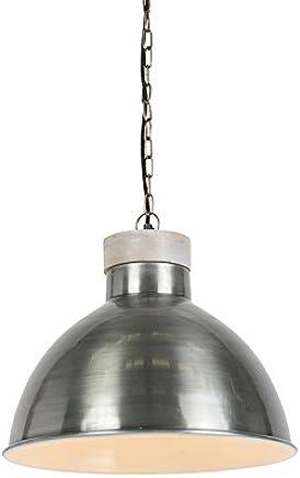 esLampara Qazqa Amazon Colgante Industrial Iluminación 0yPvN8nmwO