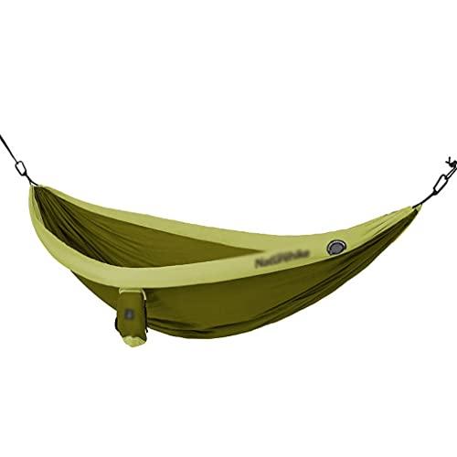MKVRS Hamaca Inflable Doble, Capacidad de Carga de 200 kg, (240 * 173 cm) Ultraligero portátil al Aire Libre al Aire Libre Camping de Nylon silling hamacas (Color : Green)