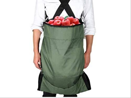 Grantien Tablier De Cueillette De Jardin,Sac De Cueillette De Récolte avec Fond Amovible,pour Fruits Légumes,Oxford Vert 49 * 86cm