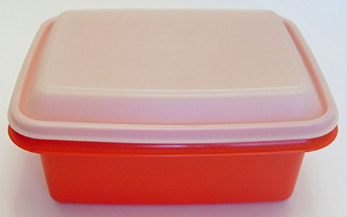 Red Tupperware Ice Cream Keeper Container with Lid