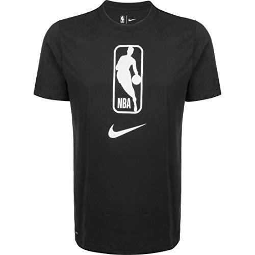 NIKE Camiseta Manga Corta T-Shirt, Negro/Blanco, L Mens