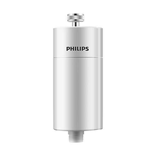 Philips AWP1775 Inline-Duschfilter, KDF-Filtersystem gegen Rest-Chlor, Bakterien, Verunreinigungen & Kalk, Wasser-Filter für Bad und Dusche