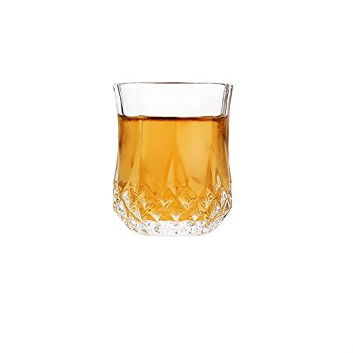 Taza de la Taza de Cristal Copa de Cristal Tiro Endurecido Creativo High Spirits Blanco Copas de Vino Bebida Bebida de Tope de Espesor Whisky inlijianzhugon (Color : H5.6cm D 4.6cm 60ml)