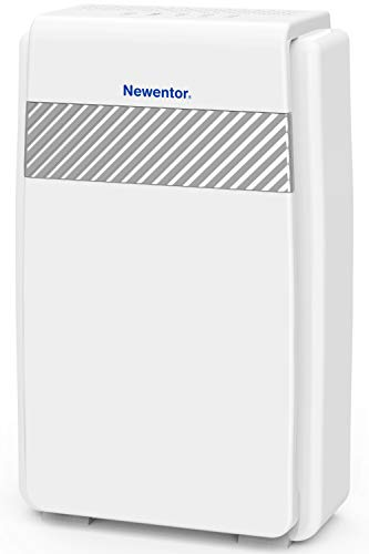Newentor Luftreiniger Hepa Aktivkohlefilter, 5-in-1 Filtersystem CADR 218m³/h gegen Allergie, Pollen, Staub, Luftreiniger mit Ionisator für Allergiker Raucher, Wohnung Schlafzimmer bis zu 40㎡