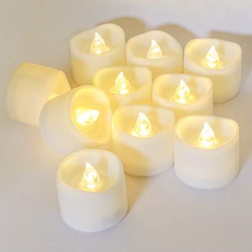 12LED Kerzen Flamme Teelicht,KooPower Flammenlose Elektrische LED Tee Lampen Kerze Lichter Batterie Dekoration Votivkerzen für Weihnachten,Weihnachtsbaum,Ostern,Hochzeit,Hochzeit