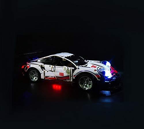 Daniko Lego LED-Beleuchtungsset für Porsche 911 RSR 42096 Modell Technic (Porsche Nicht enthalten)