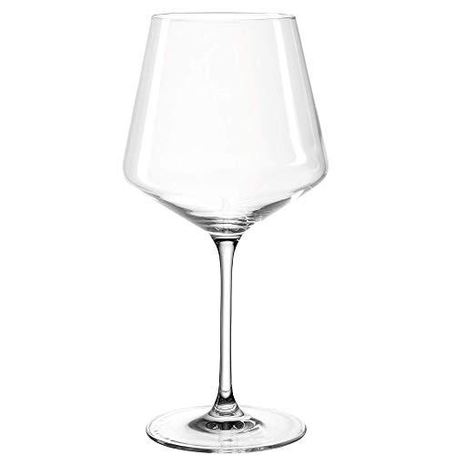 Leonardo Puccini Rotwein-Gläser 6er Set, spülmaschinengeeignetes Wein-Glas, Rotwein-Kelch mit gezogenem Stiel, Burgunder-Gläser Set, 730 ml, 069555