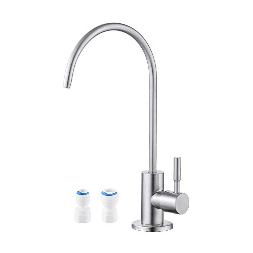 KES RO Faucet Water Filter Faucet Non-Air-Gap Drinking Water Beverage Faucet for Reverse Osmosis Systems Water Filtration System 304 Stainless Steel Brushed Finish, Z504CLF-BS