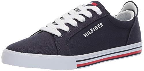 Tommy Hilfiger Unisex-Kid's Herritage Sneaker, Navy-t, 5 Medium US Little Kid