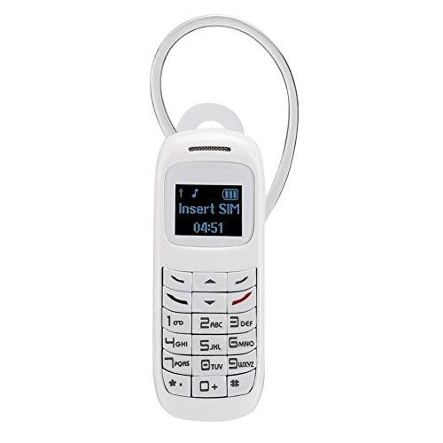 Wosune Mini teléfono móvil, Mini Pantalla HD de 0.66 Pulgadas, múltiples Funciones, teléfono móvil con Gancho para la Oreja de 350 mAh, Apariencia Atractiva, Hombre de Negocios para(White)