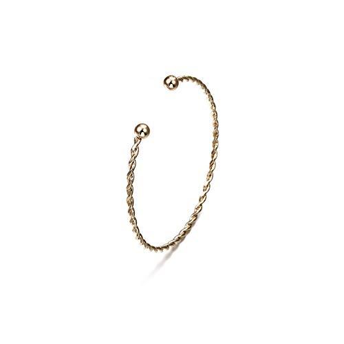DMUEZW Retro-charm, eenvoudige armband, modieus, minimalistisch, met pijl geknoopt, openingsarmband sieraad voor vrouwen