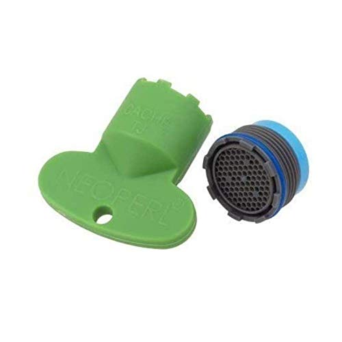 Neoperl - Set con aeratore per rubinetto a scomparsa, 18,5 x 1 m, regolatore del getto, filtro