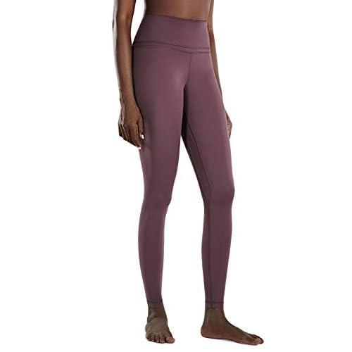 CRZ YOGA Women's Naked Feeling High Waist Lightweight Seamless Sports Yoga Gym Leggings-28 Inches