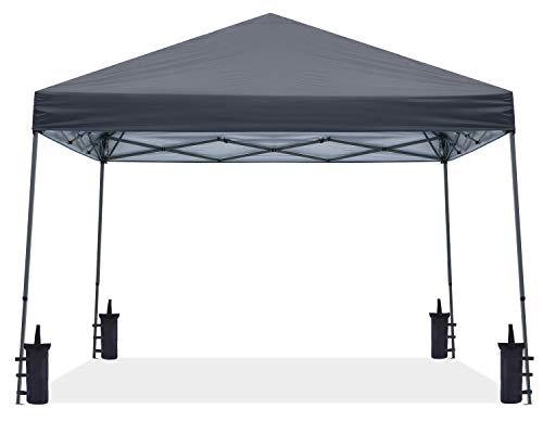 ABCCANOPY 3x3M Pop Up Pavillon Tragbare Instant Shelter Outdoor Canopies Bonus Rolltasche,Dunkelgrau