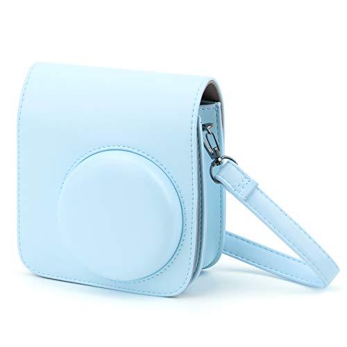 HONEYWHALE Custodia Compatibile con Instax Mini 9   Mini 8 8+Fotocamera istantanea,custodia protettiva in pelle PU con tracolla regolabile (blu)