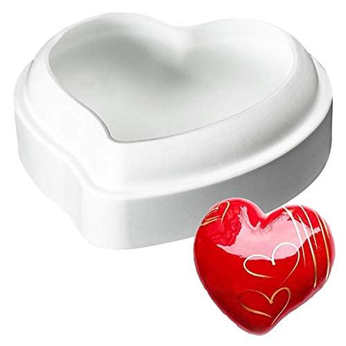 シリコン型 シリコンモールド シリコンムース型  ベーキング チョコレート型 お菓子 ケーキ 金型 3D抜き型 DIY 1穴 製菓道具 ハンドメイド ハート型 桃心型