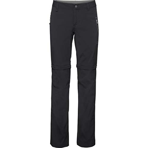 Odlo Pants Zip-Off Wedge Pantalon Femme, Noir, 44