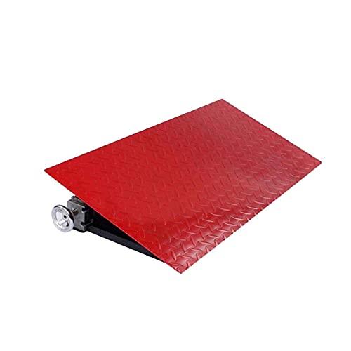 JINPENGRAN Rampas de bordillo Grande, rampas de umbral de Acero Pesado Rampas de umbral de automóvil Las rampas de acera se Pueden Usar bajo 3 toneladas,Rojo