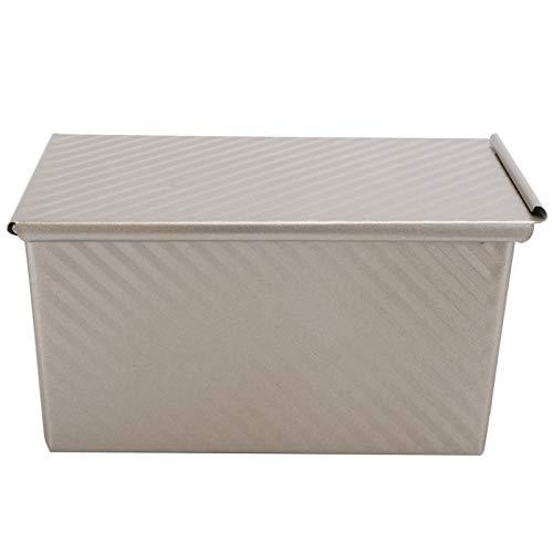 Molde para caja de pan tostado, molde dorado para hornear antiadherente para el hogar con tapa Suministros de cocina