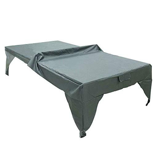 Lumpur Tischtennis-Abdeckung, faltbar, für den Außenbereich, Spielplatz, Innenbereich, ganzjähriger Schutz, strapazierfähig, wasserdicht, nicht null, grau