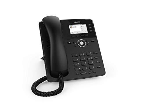 Snom D717 IP Telefon, SIP Tischtelefon (3 selbstbeschriftende Funktionstasten, hochauflösendes Farb-TFT-Display, integrierter Lichtsensor, PoE IEEE 802.3af), Schwarz, 00004397