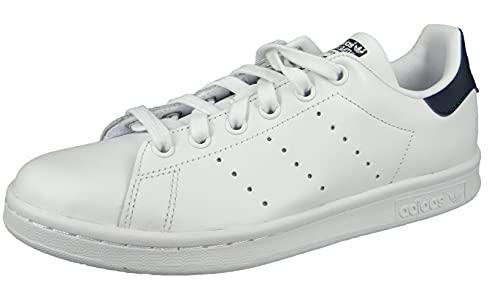 adidas Originals Stan Smith, Zapatillas Unisex Adulto, Blanco Roto Running White Running White New Navy, 40 EU