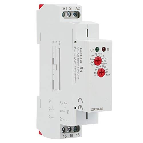 Shippwin GRT8-B1 - Relé de tiempo de retardo, mini relé de retardo de apagado con temporizador DIN, tipo AC 220 V con indicadores LED
