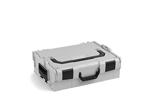 Bosch Sortimo L BOXX 136 | Größe 2 grau | Werkzeugkoffer Kunststoff | Bosch professional Werkzeugkoffer | Ideals Unterteilungs- und Transportsystem