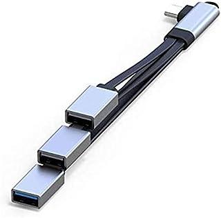 Fransande - Hub USB C, adattatore OTG di tipo C con 3 porte USB, cavo di estensione portatile USB C per teleteletelevision...