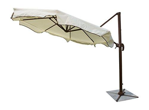 "Panama Jack Outdoor PJO-6001-ESP-CU Outdoor Island Breeze Cantilever Umbrella with Stone Bases, 10-Foot Diameter, 108"" x 108"" x 108"", Cream & Granite"