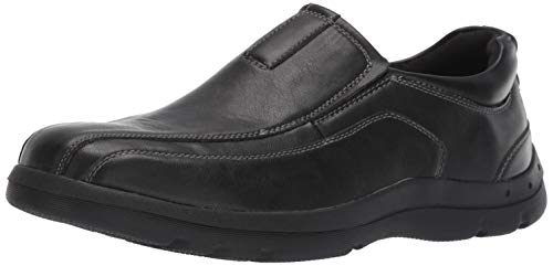 Deer Stags Mens Saxon Memory Foam Classic Runoff Toe Dress Comfort Slip-On Loafer, Black, 8 W US