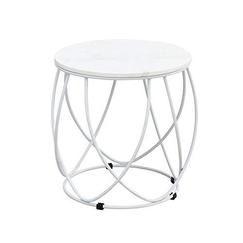 tafels DD bijzettafel, noord-ronde marmeren hoek tafel, ijzeren bank koffietafel, woonkamer snacktafel -werkbank