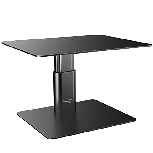Nillkin Monitor Stand Riser for Desk - Adjustable Height computer Monitor Stand, Ergonomic Aluminum Computer Desk Holder for TV, iMac, Laptop,MacBook Air/Pro, Dell, HP, Lenovo and other Screen Display