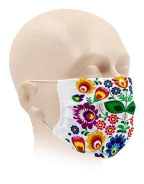 Karteo Gesichtsmaske bunt waschbar | Maske für Mund und Nase atmungsaktiv | Mundmaske aus...