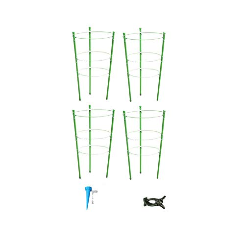 JIEPOLLY Rankhilfe Tomaten 4er Set, 60 cm Höhenverstellbare Ringe Wetterfest Kletterpflanzen Garten Balkon Rankhilfe