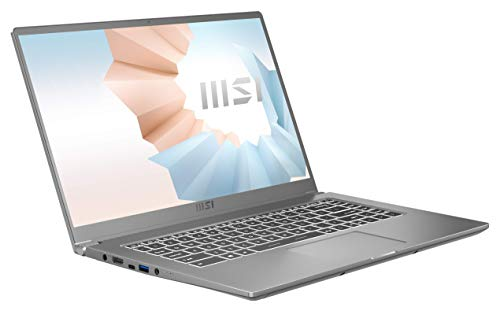 Modern 15 A11M-062 Urban Silver (39,62 cm / 15,6 Zoll) Premium Laptop (Intel Core i7-1165G7 Prozessor, Intel Iris Xe Grafik, 8 GB DDR4-3200, 512 GB, Windows 10 Home)