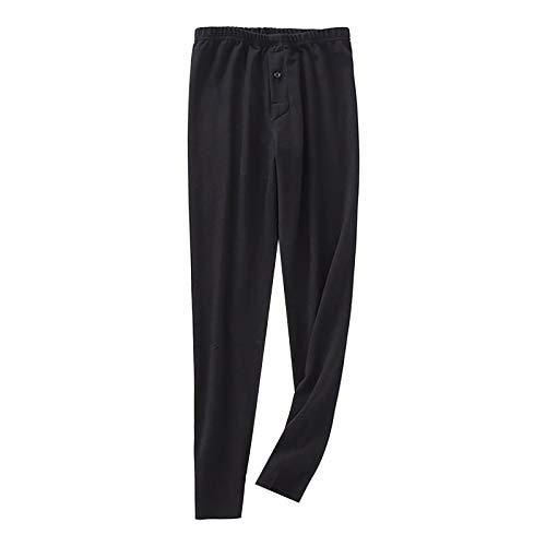 Pantalones térmicos de forro polar para hombre, estilo informal, de felpa, cálidos, para deportes de invierno, para el hogar, gimnasio, yoga, deportes, correr, senderismo