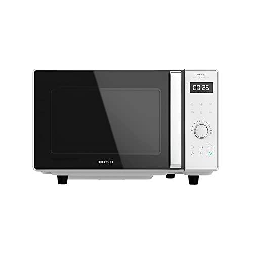 Cecotec Microondas sin Plato Digital GrandHeat 2500 Flatbed Touch White. 800 W, Capacidad 25 L, Panel de Control Táctil, 8 Funciones Preconfiguradas, Temporizador, Bloqueo de Seguridad